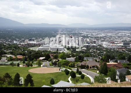 La Utah State Capitol Building in Salt Lake City Foto Stock