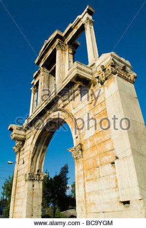 L'Arco di Adriano ad Atene, in Grecia. Foto Stock