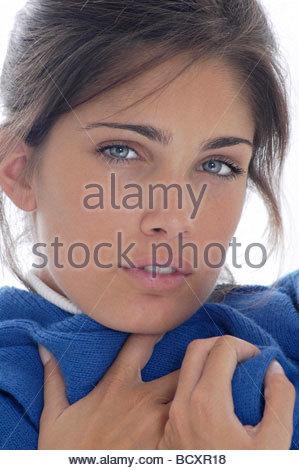 Giovane donna, influenza Foto Stock