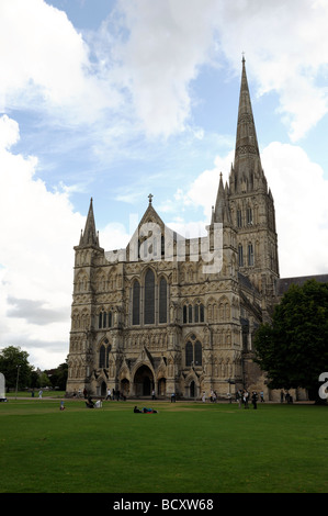 La Cattedrale di Salisbury Wiltshire Foto Stock