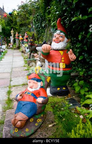 Giardino Prato Gnome Gnome Gli Gnomi Statue Figure Sculture