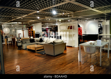 "Parigi Francia, Habitat casalinghi arredamento negozio sul display, a 'Les Halles' 'Le "" Forum Shopping Center all'interno Foto Stock"