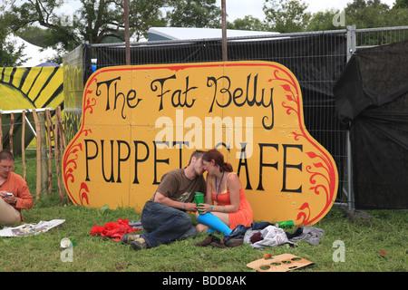 Glastonbury Festival 2009 Foto Stock