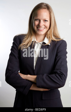 Happy business donna Foto Stock