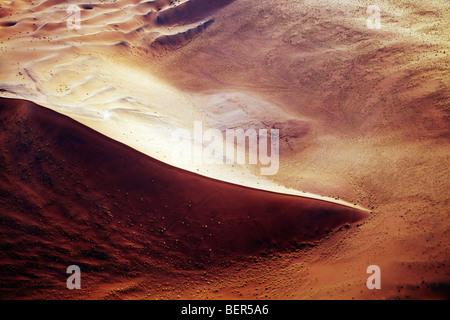 Foto aerea di dune di sabbia del Namib Naukluft Park Namib Desert Namibia Foto Stock