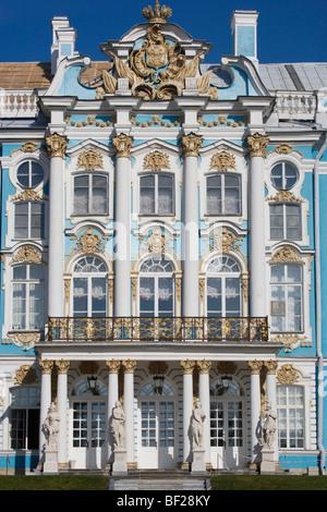 Il Palazzo di Caterina a Carskoe Selo, 25 km a sud est di San Pietroburgo, Russia Foto Stock