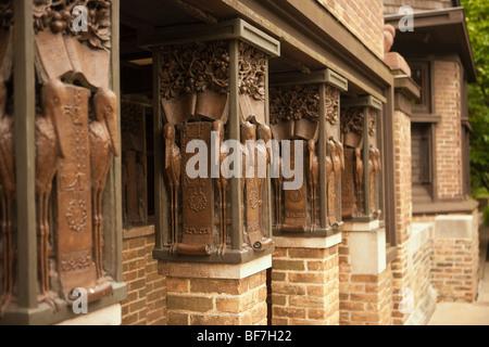 Architetto Frank Lloyd Wright Casa e studio di Frank Lloyd Wright Historic District, Oak Park, Illinois, Stati Uniti Foto Stock