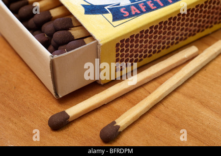 Scatola di fiammiferi di sicurezza Foto Stock