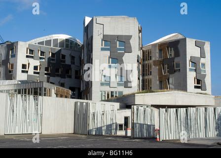 Il nuovo edificio del parlamento scozzese, architetto Enric Miralles, Holyrood, Edimburgo, Scozia, Regno Unito, Europa Foto Stock