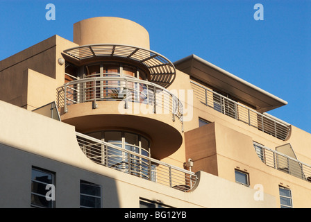 1930s Art-deco appartamenti in stile. Spitalfields, East London, Regno Unito Foto Stock