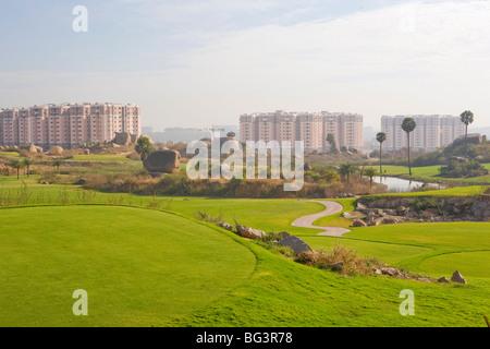 Golf club, Hi-Tech City, Hyderabad, Andhra Pradesh, India, Asia Foto Stock