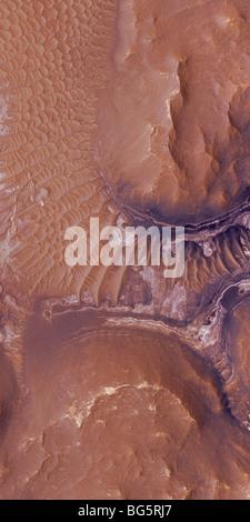 Noctis Labyrinthus strati su Marte Foto Stock