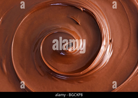 Cioccolato nero swirl Foto Stock