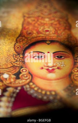 Dea indù Lakshmi. Sacra India Foto Stock