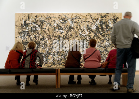Autunno ritmo (numero 30), 1950, Jackson Pollock, Metropolitan Museum of Art gallerie d'Arte Moderna di New York Foto Stock