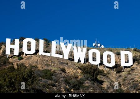 Il bianco di Hollywood Sign, Los Angeles, California, Stati Uniti d'America Foto Stock