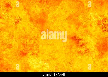Close-up di incendio intenso