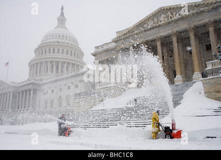 Scene di neve intorno agli Stati Uniti Campidoglio