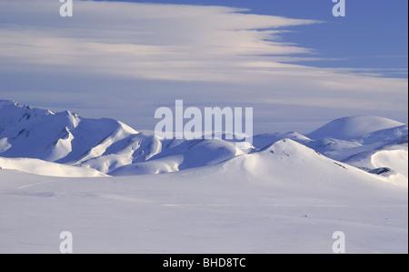 Inverno, Mt. In Barmur Landmannalaugar, Islanda Foto Stock
