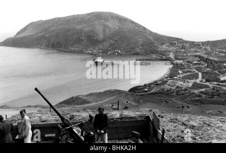 Eventi, Seconda Guerra Mondiale / La seconda guerra mondiale, la Russia 1944 / 1945, Crimea, Tedesco anti-aerei Foto Stock