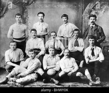 Crydon AFC nel 1900 da qualche parte in questa foto è il Sig. Wragg (della famiglia racing) e il sig. Carr (biscotto Foto Stock