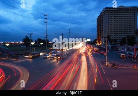 Auto sentieri; Manila Filippine; Foto Stock