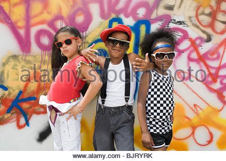 Cool kids Foto Stock