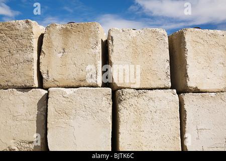 Blocchi in calcestruzzo Foto Stock