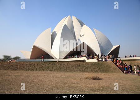 Fiore di loto tempio, tempio Bahai, Nuova Delhi, India, Asia Foto Stock
