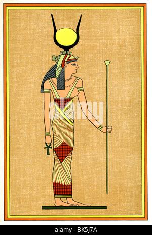 In antica mitologia egiziana, Iside era la grande dea madre e venerato come la moglie di Osiride il Dio dei morti. Foto Stock