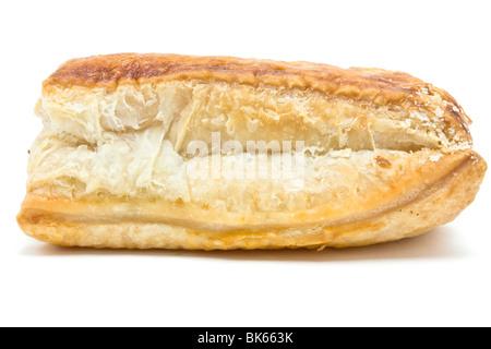 Golden salsiccia rotolo realizzato da carne di salsiccia e sfoglia di pasta sfoglia. Foto Stock