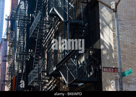 Cortlandt Alley di Tribeca, Manahattan, New York Foto Stock