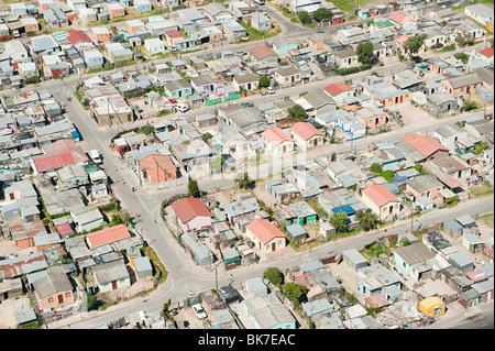 Vista aerea di cape town bidonville Foto Stock