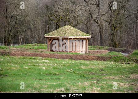 In terracotta moderna casa rotonda Dumfries House Cumnock East Ayrshire in Scozia Foto Stock