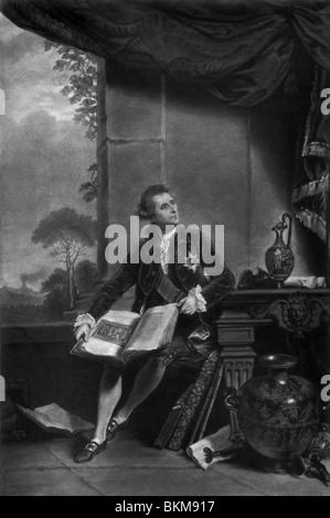 Ritratto di diplomatico inglese Sir William Hamilton (1731 - 1803) - sua moglie Emma (Lady Hamilton) era Horatio Foto Stock