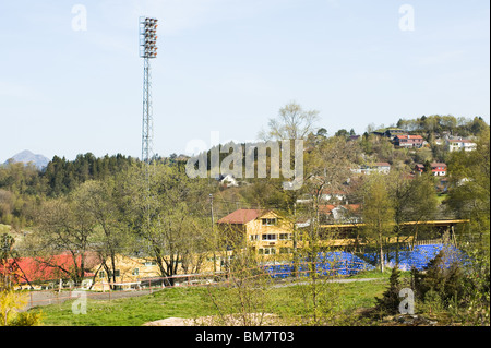 Washer a Fana atletica Aports Stadium vicino a Bergen in Norvegia Foto Stock