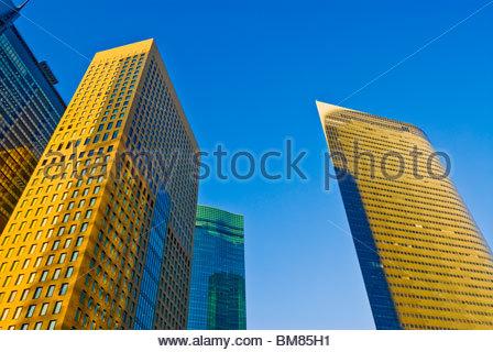 Ricerca di grattacieli di Shiodome. Foto Stock