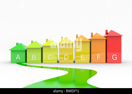 Categoria di efficienza energetica Foto Stock