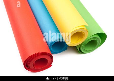 Rotoli Di Carta Colorata : Quattro rotoli di carta colorata foto immagine stock