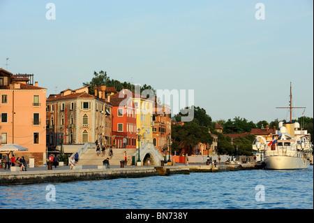 Riva dei Sette Martri a Venezia, Italia Foto Stock