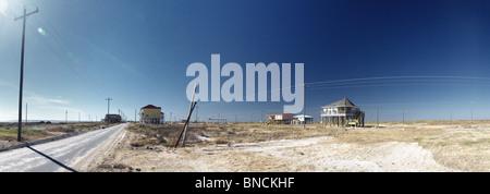 Holly Beach , Louisiana , la ricostruzione dopo l uragano Rita Foto Stock