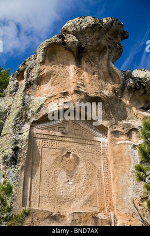 Le antiche rovine di Phyrigia, Afyon Turchia Foto Stock