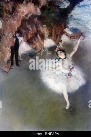 La ballerina sul palco l'etoile, di Edgar Degas 1834-1917, Francia, Parigi, il Musee d'Orsay, circa 1878