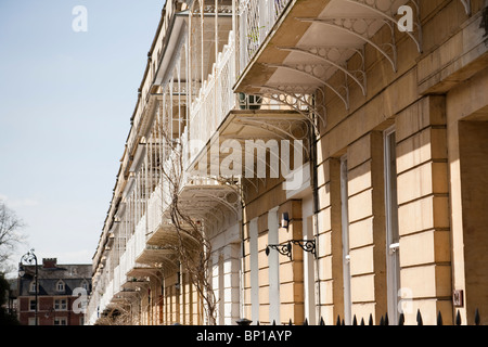 Terrazze coperte su terrazzi case in stile georgiano in Clifton ...