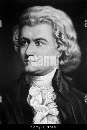 WOLFGANG Amadeus MOZART Compositore (1790) Foto Stock