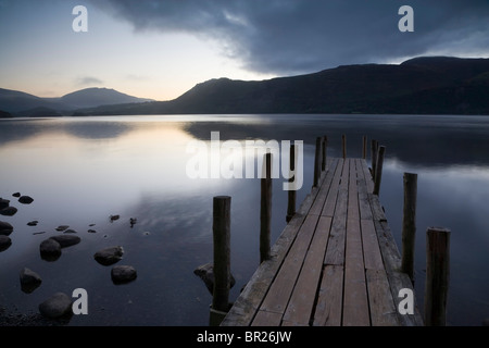 Il molo o pontile, Derwent Water Lake District, REGNO UNITO Foto Stock