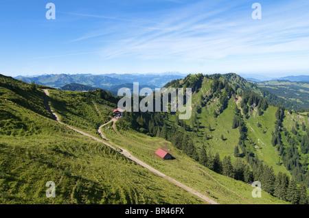 Hochgrat vicino a Oberstaufen, Allgaeu Alpi, Baviera, Germania, Europa Foto Stock