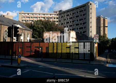 Hackney Road a Londra Foto Stock