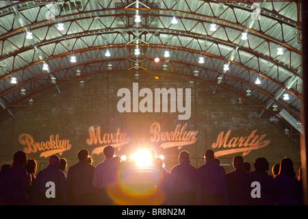 Marty Markowitz discorso inaugurale in Brooklyn NY Foto Stock