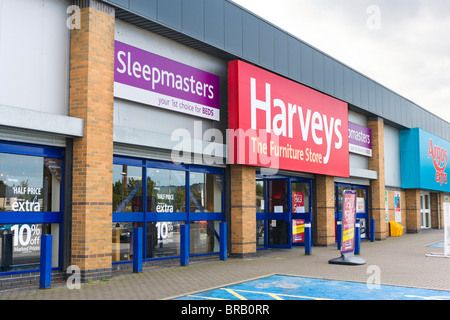 Harveys furniture store, Leeds Road Retail Park, Huddersfield, West Yorkshire, Inghilterra, Regno Unito Foto Stock